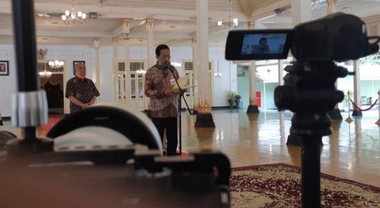 Sapa Aruh Gubernur DIY Sri Sultan Hamengku Buwono X di Bangsal Kepatihan