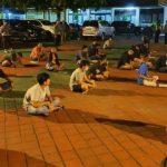 Sebanyak 36 Muda-Mudi diamankan di Polres Ngawi karena kedapatan sedang nongkrong saat wabah Corona merebak. (Foto: Sugeng Haryanto)