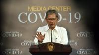 Sekretaris Direktorat Jenderal Pencegahan dan Pengendalian Penyakit Kementerian Kesehatan, Achmad Yurianto di Kantor Presiden