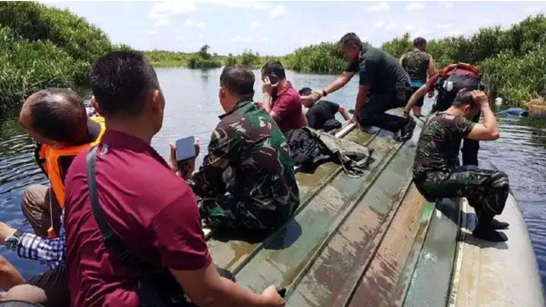Speedboat Paspampres mengalami kecelakaan di Palangka Raya, Kalimantan Tengah. (Foto: Istimewa)