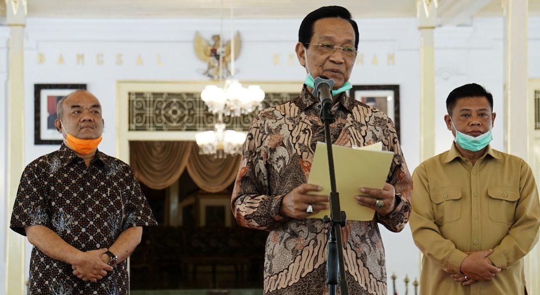 Sri Sultan Hamengkubuwono X memberikan Sapa Aruh Cobaning Gusti Allah awujud virus corona kepada segenap Masyarakat Yogyakarta.