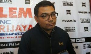 Tenaga ahli utama kedeputian komunikasi politik KSP Donny Gahral Adian usai mengisi diskusi di Gondangdia, Jakarta. (Foto: Kompas.com)