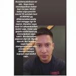 Unggahan Story instagram Aktor Detri Warmanto