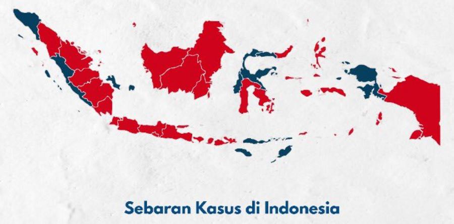 Update Sebaran Positif Corona di Indonesia Update 24 Maret 2020