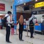 antrian boarding pass Stasiun Purwokerto