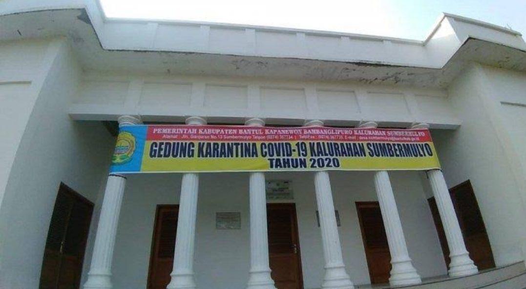 Gedung BUMDes di Sumbermulyo Bantul disulap menjadi gedung karantina bagi pemudik. (Foto: Istimewa)