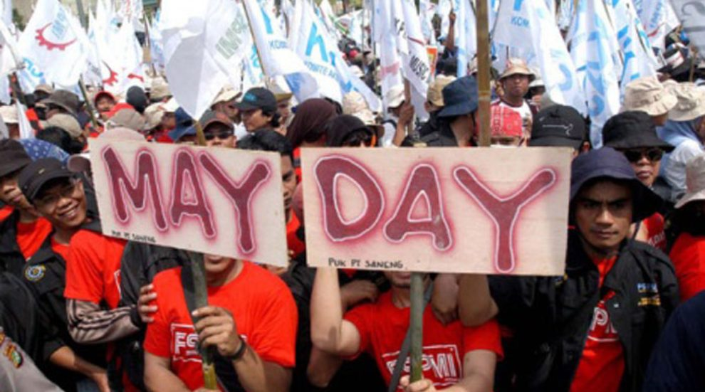 Hari Buruh Internasional atau May day. (Foto: Majalahsedane)