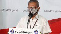 Juru bicara pemerintah untuk penanganan virus corona Achmad Yurianto dalam konferensi pers di Graha BNPB. (DOKUMENTASI BNPB)
