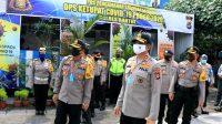 Kapolda DIY meninjau kesiapan Pospam Ops Ketupat Progo 2020 di wilayah DIY. (Foto: Headline.co.id)