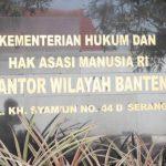 Kemenkumham Wilayah Banten.