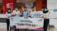 PT KAI Divre IV Tanjungkarang berikan bantuan untuk penanganan Covid-19 di Provinsi Lampung. (Foto: Headline.co.id)