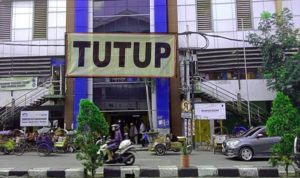 Pasar Kapasan Surabaya ditutup sementara. (Foto: Istimewa)