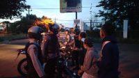 Patroli Dalmas Direktorat Samapta Polda DIY mengamankan sejumlah remaja yang sedang melakukan aksi balap liar. (Foto: Dok Polda DIY)