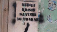 Pelaku aksi Vandalisme Provokasi diciduk polisi di sebuah Cafe Egaliter di Tangerang.