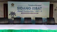 Penentuan 1 Ramadhan, Sidang Isbat digelar secara virtual.