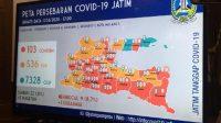 Peta persebaran Covid 19 di Jatim. (Foto: Detikcom)