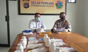 Polda DIY gelar perkara kasus penangakapan penyalahgunaan narkoba di wilayah hukum Polda DIY. (Foto: Headline.co.id)