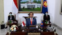 Presiden Joko Widodo mengikuti KTT ASEAN Plus Three secara virtual dari Istana Kepresidenan Bogor