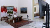 Presiden Jokowi memimpin rapat terbatas di Istana Negara. (Foto: Setpres)