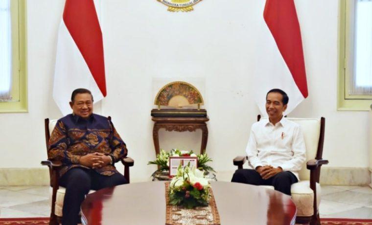 Presiden Jokowi saat menerima Mantan Presiden SBY di Istana Negara. (Foto: KSP)