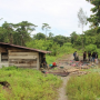 Sebuah kamp di Jalan Trans-Nabire, Kampung Jayanti, Distrik Iwaka, Kabupaten Mimika menjadi kamp persembunyian KKB