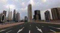 Suasana di Dubai saat diberlakukannya Lockdown.