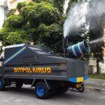 Truk Angkut Ditpolairud berubah total menjadi Truk Disinfektan Marine Police. (Foto: Headline.co.id)