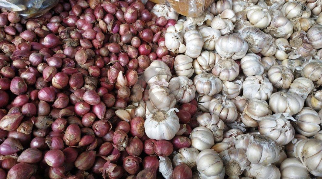 harga bawang merah dan bawang putih mulai terkendali.
