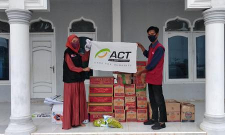 ACT Lampung Salurkan Bantuan Warga Terdampak Puting Beliung