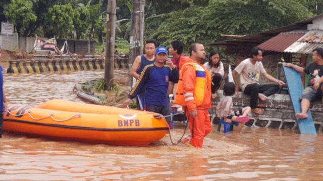Banjir di Kelurahan Kotabumi, Kecamatan Grogol, Kota Cilegon, Banten