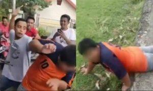 Detik-detik aksi bullying terhadap penjual jalangkote (jajanan) di Pangkep Sulsel. (Motase: TribunBatam)