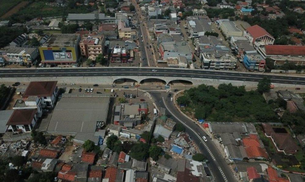 Flyover Martadinata (Pamulang) di Simpang Gaplek Jalan Raya Martadinata, Kota Tangerang Selatan. (Foto: KemenPUPR)