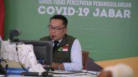 Gubernur Jawa Barat Ridwan Kamil saat mengikuti Rapat Terbatas bersama Presiden RI, para menteri, dan sejumlah kepala daerah via video conference (Dok. Humas Pemprov Jabar)