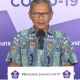 Juru Bicara Covid-19 dr. Achmad Yurianto saat menyampaikan keterangan di Gedung BNPB Jakarta