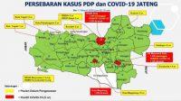 Kasus penyebaran Corona di Jawa Tengah.