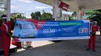 Kembali Pertamina memberikan Cashback 50 persen bagi angkot di seluruh Indonesia. (Foto: Sumutcyber)