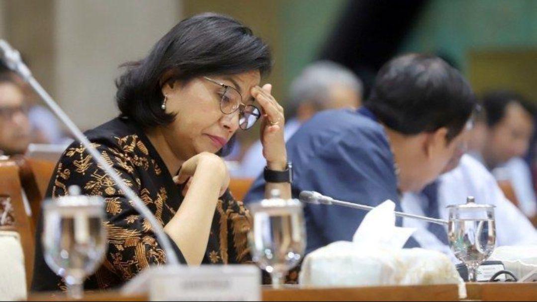 Menteri Keuangan Indonesia Sri Mulyani dalam rapat kerja bersama Komisi XI DPR RI. (Foto: Tribunnews)