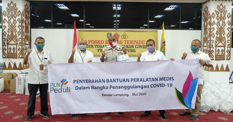 PLN UID Lampung Salurkan Bantuan CSR Ke Tenaga Medis