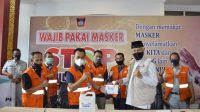 PT KAI Divre II Sumatera Barat kembali salurkan bantuan dalam penanganan covid-19 kepada Walikota Padang. (Foto: Headline.co.id)