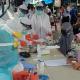 Pemkab Oku Timur lakukan rapid test terhadap 50 orang secara acak di Pasar Gumawang