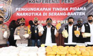 Polri gagalkan penyelundupan Narkoba di Serang Banten. (Foto: Polri)