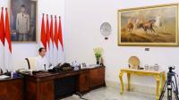 Presiden Joko Widodo bersama jajaran terkait kembali menggelar rapat terbatas untuk membahas antisipasi kebutuhan bahan pokok
