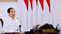 Presiden Joko Widodo memimpin rapat terbatas terkait persiapan Idulfitri 1441 H