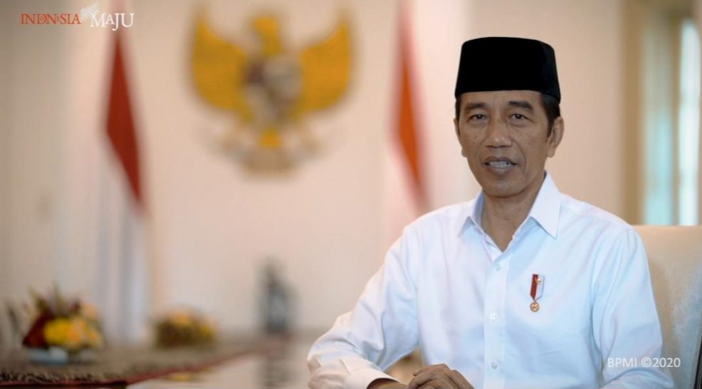 Presiden Joko Widodo mengucapkan Selamat Hari Raya Idul Fitri 1 Syawal 1441H. (Foto: BPMI)
