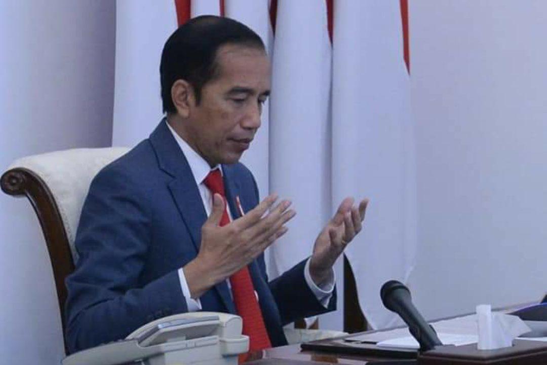Presiden Jokowi saat mengikuti Musrenbangnas tahun 2020 secara virtual. (Foto: Setneg)