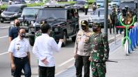 Presiden Jokowi tinjau Kesiapan penerapan prosedur standar tatanan baru di Stasiun MRT Bundaran Hotel Indonesia