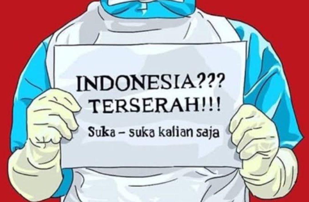 Tagar Indonesia Terserah ramai di medsos (media sosial) berbagai platform sejak hari Jum'at 15 Mei. (Ilustrasi: Hypegrid.id)