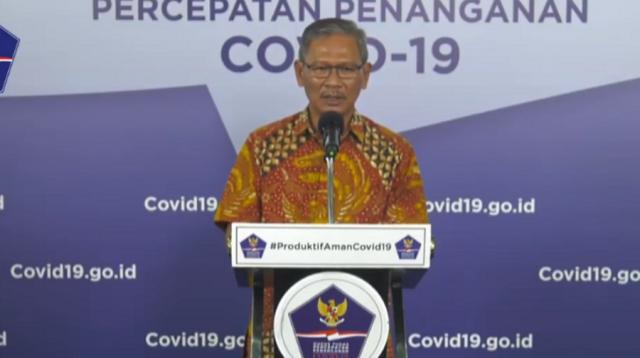 Achmad Yurianto mernyampaikan update perkembangan covid-19