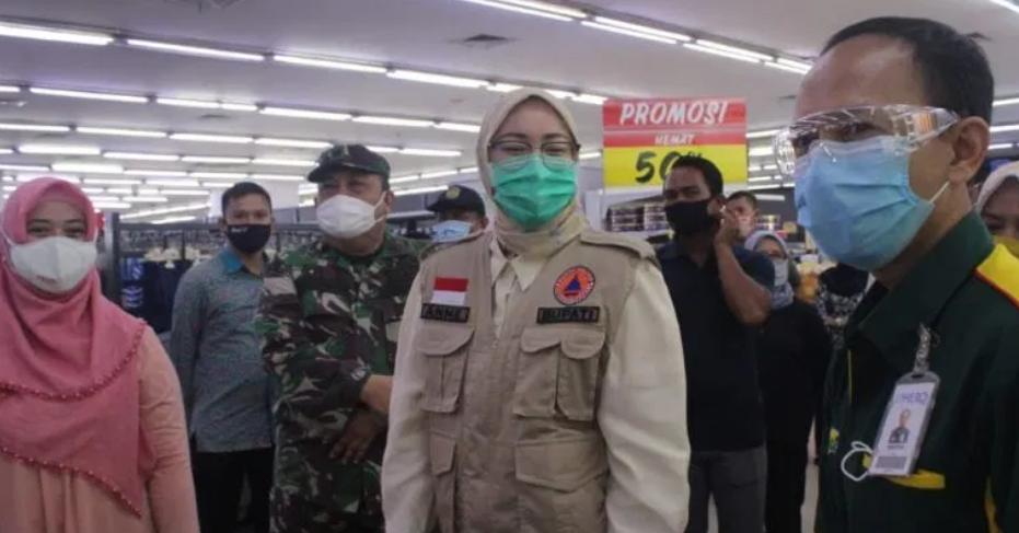 Bupati Purwakarta Anne Ratna Mustika Cek Kesiapan Sektor belanja jelang New Normal