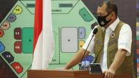 Doni Monardo memberi keterangan dalam Rapat Koordinasi Penanganan COVID-19 di Balai Prajurit Manunggal